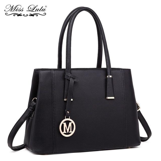 98439ed78f Miss Lulu Brand Women Handbag Designer M PU Leather Shoulder Bag Ladies  Fashion Large Tote Cross Body Messenger Satchel YD1748