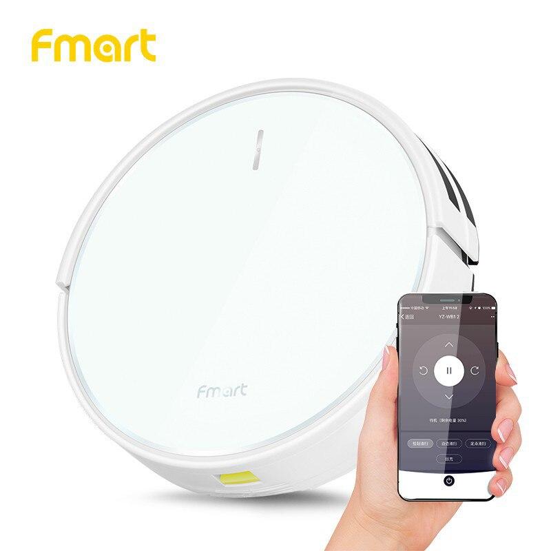 Fmart FM-R570 Robot Aspirateur avec Wifi App Contrôle De Nettoyage Planifié 1500 pa Puissance Grande Aspiration Aspirateur