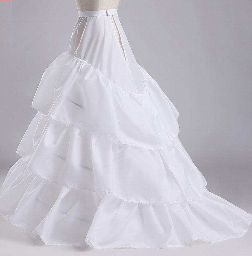 White Wedding Petticoats 3 Layers Cheap Women Underskirt jupon crinoline vestido longo sottogonna