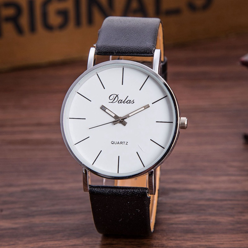 Fashion Simple Unisex Quartz Watch Men Top Luxury Brand Business PU Leather Watches 2016 Women Analog High Quality Sport's Watch waste ink tank chip resetter for epson 9700 7700 7710 9710 printers maintenance tank chip reset