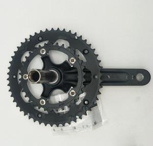 Image 5 - Hợp Kim Nhôm Xe Đạp Fixed Gear Crankset 170mm 110 BCD Xe Đạp CNC Rỗng Quay Chainwheel 34 50T chân đế