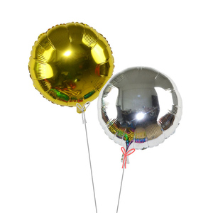 Image 4 - 5pcs 18 Gold Silver Balloon Round Wedding aluminum Foil Balloons Inflatable gift Birthday baloon Party Decoration Helium Ball