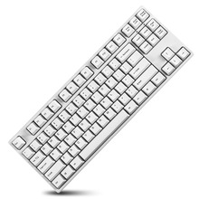 GANSS Mechanical Gaming Keyboard with Cherry MX Brown Switch 87 KeysTenkeyless (Anti-Ghosting) for Gamer(White)