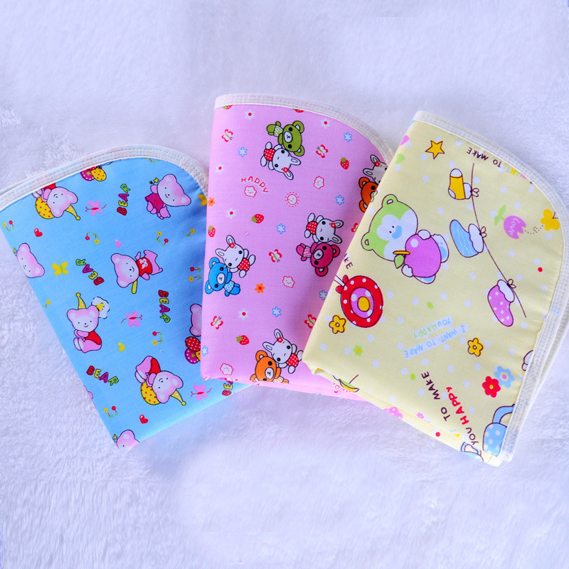 Changing Pads & Covers Punctual Baby Changing Pad 2pcs/lot Cotton Waterproof Baby Changing Mat Urine Mattress Every Infant Cartoon Breathable Products C-nd003-2 Mother & Kids