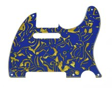 KAISH Vintage 5 Hole Tele Guitar Pickguard Blue Shell for US/Mexican Telecaster