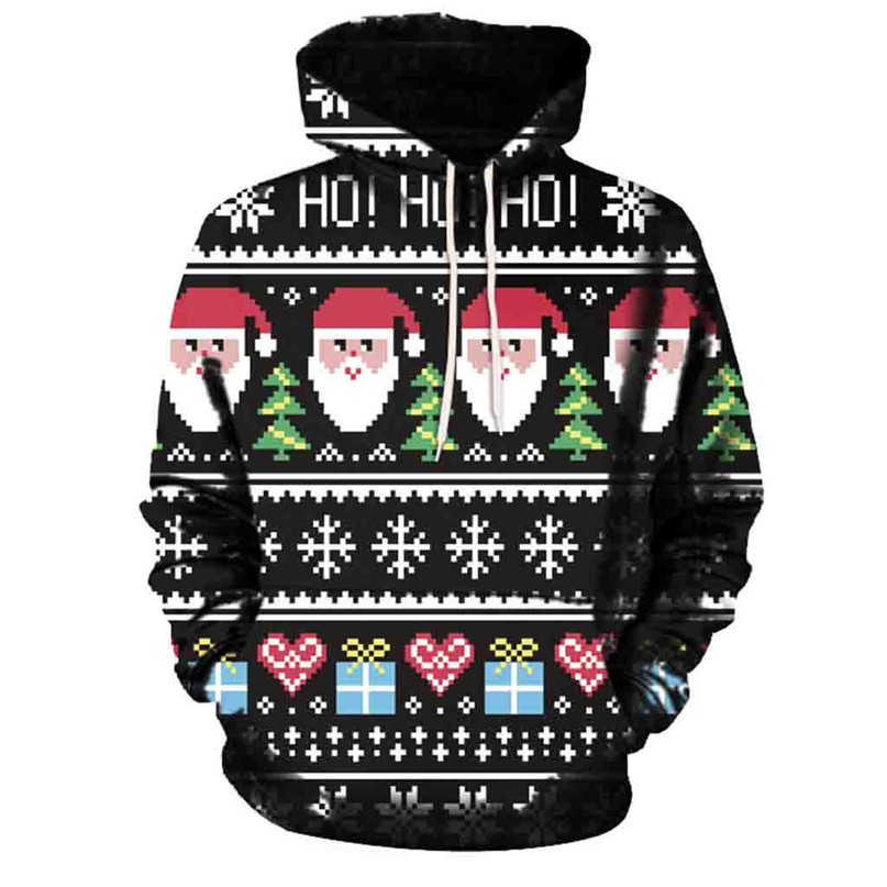 Christmas Couples Hoodies Women Man Running Jackets 3D Print Long Sleeve Winter Hoodies Top Blouse Shirts #2N20 (1)
