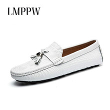 New 2018 Summer Crocodile Pattern Loafers Mens Leather Shoes Casual Breathable British Style Men Flats 2A