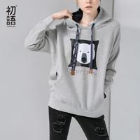 Toyouth 2015 Women Winter Fashion Cartoon Print Sweatshirt Female Casual O Neck Pullovers