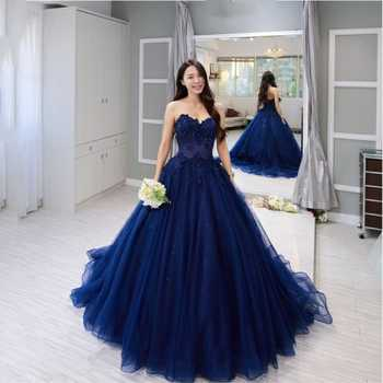 Plus Size Lace Sleeveless Long Prom Dresses Sweetheart Ball Gown Applique Beading Custom Made Evening Dress Robe De Soiree 2020 - DISCOUNT ITEM  37 OFF Weddings & Events