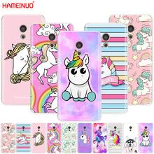 HAMEINUO Rainbow Unicorn Cover phone Case for Meizu M6 M5 M5S M2 M3 M3S MX4 MX5 MX6 PRO 6 5 U10 U20 note plus