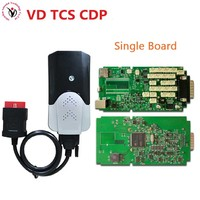 DHL Free+ New model without Bluetooth function mvd VD TCS CDP pro Single Board Green PCB new vci cdp PRO CARs TRUCKs scan tools