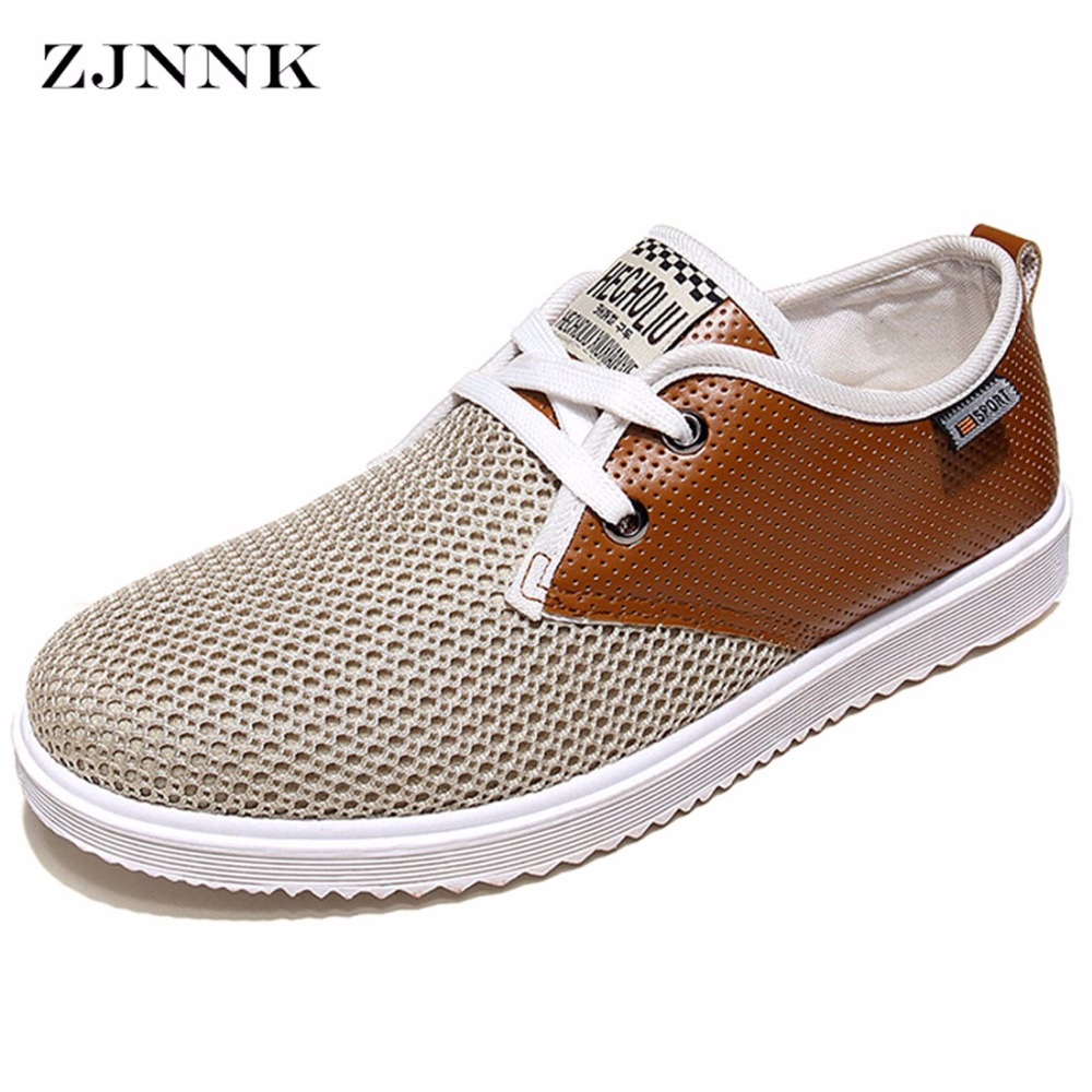 ZJNNK Hot Sale Men Summer Shoes Breathable Male Casual Shoes Fashion Chaussure Homme Soft Zapatos Hombre Summer Men Cool Shoes 2017 new chaussure homme mens shoes casual leather vulcanize hip hop white men platform summer hot sale breathable black shoes