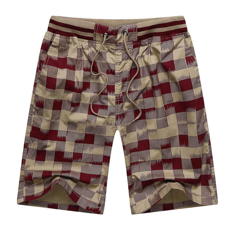 2019 marke Neue Sommer Strand Männer Shorts Mode Plaid Casual Urlaub Mens Board Short Bermuda Masculina Dropshipping