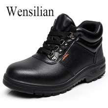 Men Safety Shoes Steel Toe Work Construction Shoes Comfortable Indestructible Cow leather Shoes Puncture Proof High Quality 2019