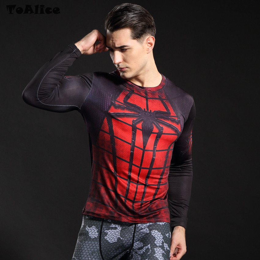 Wholesale Spider Man 3D Printed T Shirt Civil War Tee Men Avengers Raglan Sleeve Fitness Cosplay Slim Fit Tops Male T-Shirt