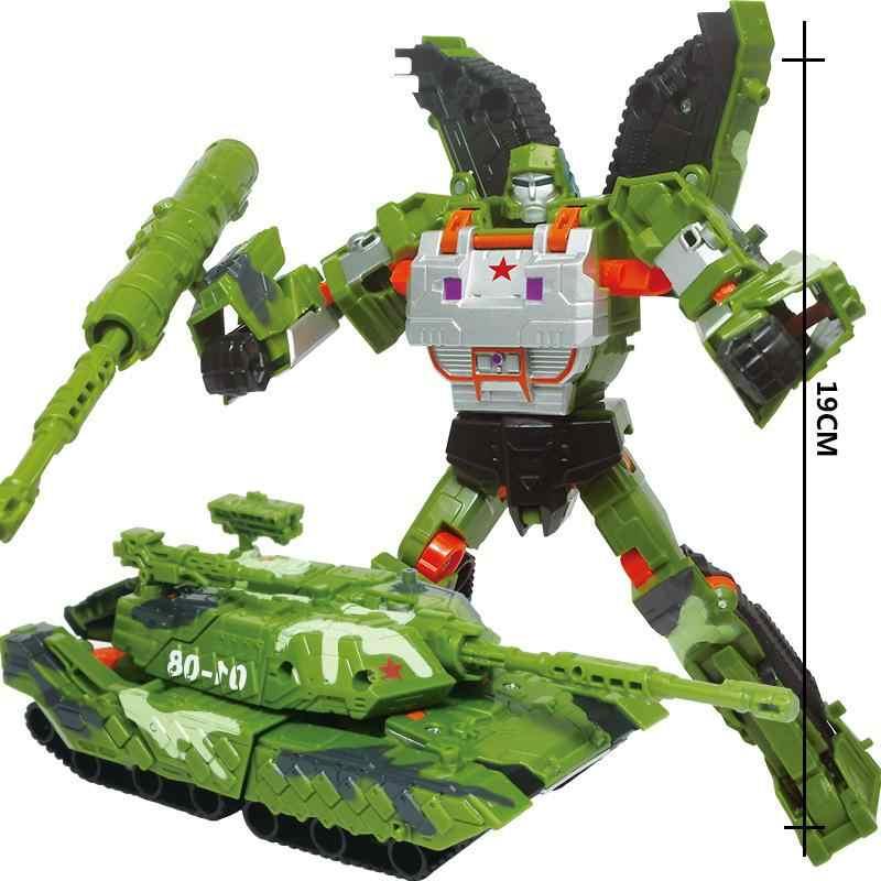 Ewellsold Fresco Tanque de Transformação Brinquedos Figuras de Ação Militar Armored Car Robot Plastic Filme 4 Anime Classic Toys Presentes Menino