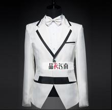 Men's cotton blazer suit slim fit jacket men suit set with pants mens suits wedding groom formal dress suit + pant + tie 4XL