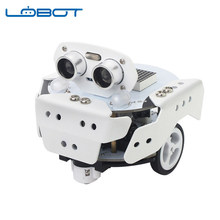 LOBOT Qbot Pro DIY Scratch3.0 Programmable Multifunctional Tracking Avoidance APP Education Smart RC Robot Car Compatible(China)