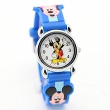 Kids Girls Watch Clock Minnie Children Cartoon Relojes Students Fashion Casual 3D Quartz