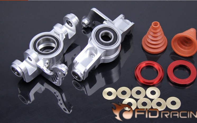 V2 version front knuckle arm cup dual-wheel steering bearing copper dust-proof FOR LOSI 5IVE-T free shipping rc car split front wheel differential speed metal shell for losi 5ive t 1pc red silver can choose