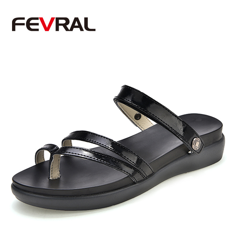 FEVRAL Woman Summer Fashion Leather Sandals Woman Wedges Platform Sandals Square High Heel White Black Woman Shoes Thick Heel women sandals 2016 fashion woman summer shoes sandals female beach wedges shoes high heel shoes sandals