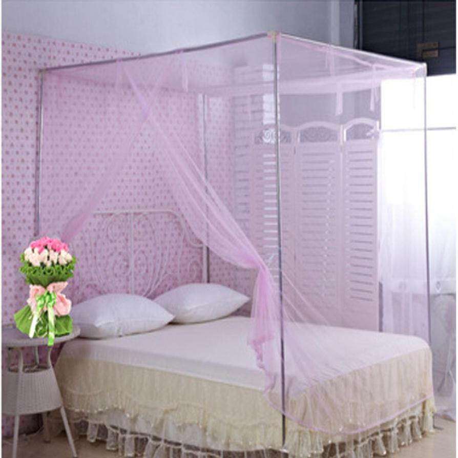 Encryption Nets 1.5 m Bed Student Dormitory Pink Mosquito Nets Party 150cm*200cm Dec 6 ...