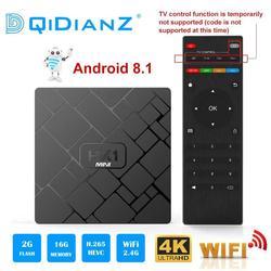 NEW,HK1 mini Smart TV BOX Android 8.1 2GB+16GB RK3229 Quad-Core WIFI 2.4G 4K 3D HK1mini Google Netflix Media Player Set-Top Box