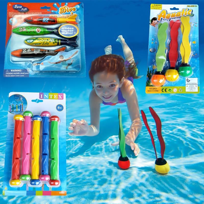 2PCS Games Summer Underwater Torpedo Rocket Swimming Pool Toy Swim Dive Sticks