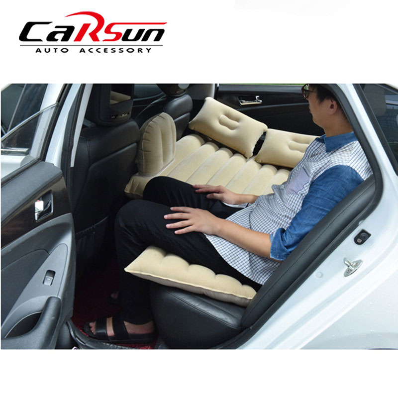 Car Air Mattress Travel Bed Inflatable Back Seat Cover Mattress Air Bed Multi Functional Sofa Pillow Outdoor Camping Mat R20 Automobiles & Motorcycles Car Travel Bed