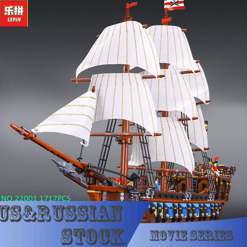 NEW LEPIN 22001 Pirate Ship Imperial warships Model Building Kits Block Briks Boy Toys Gift 1717pcs Compatible 10210 lepin 22001 pirates series the imperial war ship model building kits blocks bricks toys gifts for kids 1717pcs compatible 10210