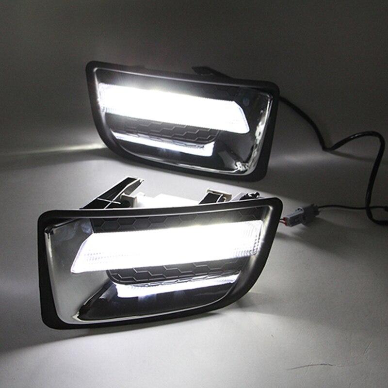 Автомобильный мигающий 12В светодиодный дневный ходовой светильник DRL для Isuzu D max Dmax 2014 2015 Дневной светильник для вождения автомобиля|fog lamp|led car drlcar drl | АлиЭкспресс