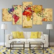 mapa mundo hd RETRO VINTAGE