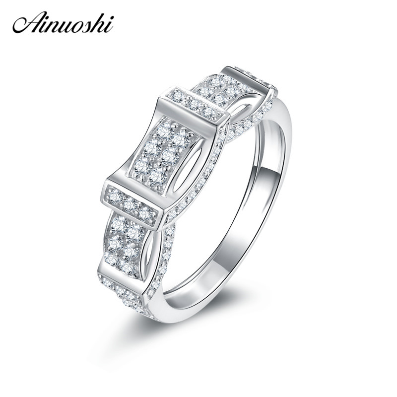Unusual Silver Wedding Anniversary Gifts: AINUOSHI Fashion 925 Sterling Silver Wedding Rings
