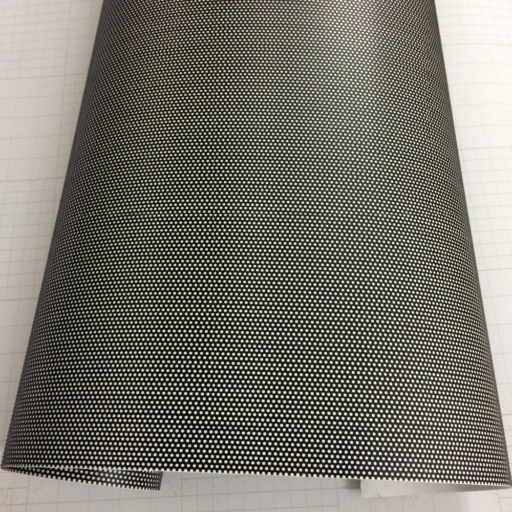Image 3 - Black One Way Vision Fly Eye Tint Perforated Mesh Film Car tint Window Tint Car wrap film sticker Motorcycle Scooter Decals-in Car Stickers from Automobiles & Motorcycles