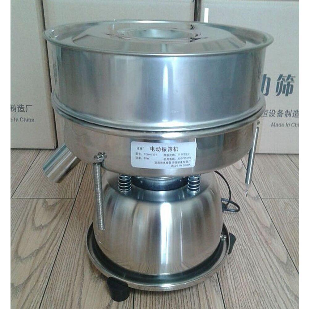Alta Qualidade 110 V StainlessSteel 60 Elétrica Vibração Da Máquina de Peneira para Partículas de Pó de Malha