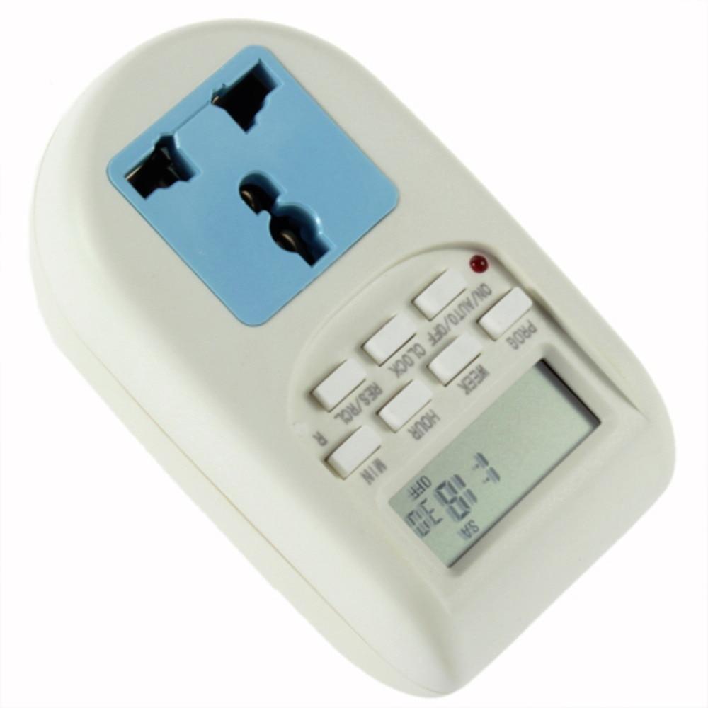 1 unids alta calidad programable temporizador electrónico socket temporizador digital de la UE plug nueva venta caliente