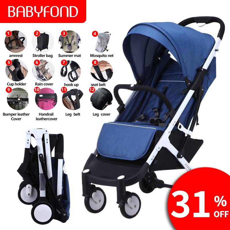 Original  5.8kg light plus folding bb stroller can sit can lie  Folding Baby Umbrella  baby stroller free gifts