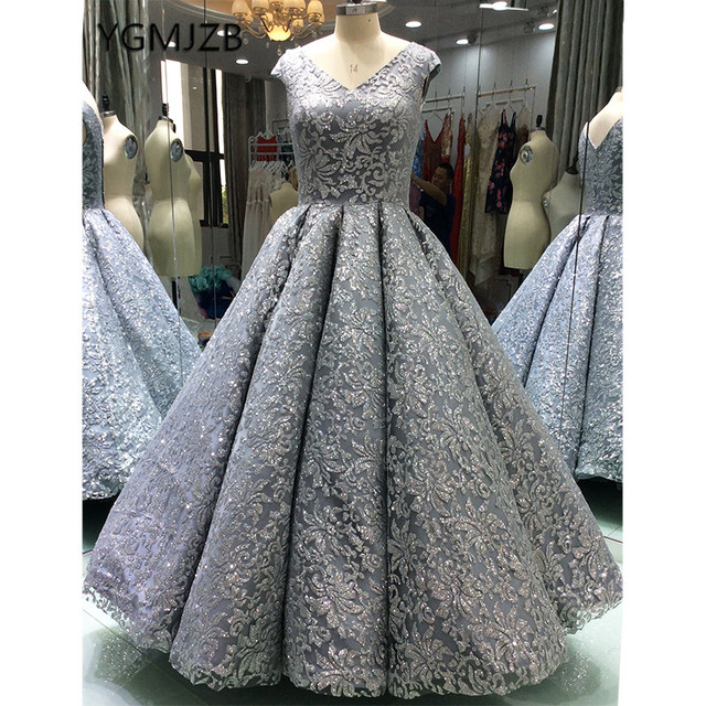 Ball Gown 2018 Evening Dresses Long Glitter Luxury Sequined Sparkly Saudi  Arabic Women Formal Evening Prom Gowns Robe De Soiree c3afcc2626ff