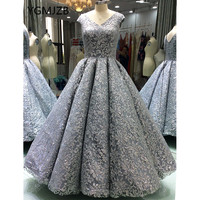 Ball Gown 2018 Evening Dresses Long Glitter Luxury Sequined Sparkly Saudi Arabic Women Formal Evening Prom Gowns Robe De Soiree