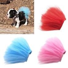 Домашнее животное щенок маленькая собака кружевная юбка принцесса платье-пачка Одежда Экипировка Костюм милый W215