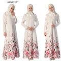 Мусульманин платье абая для женщин Исламского платья дубай кафтан Исламская одежда Мусульманская абая Платье турецкий джилбаба хиджаб 043