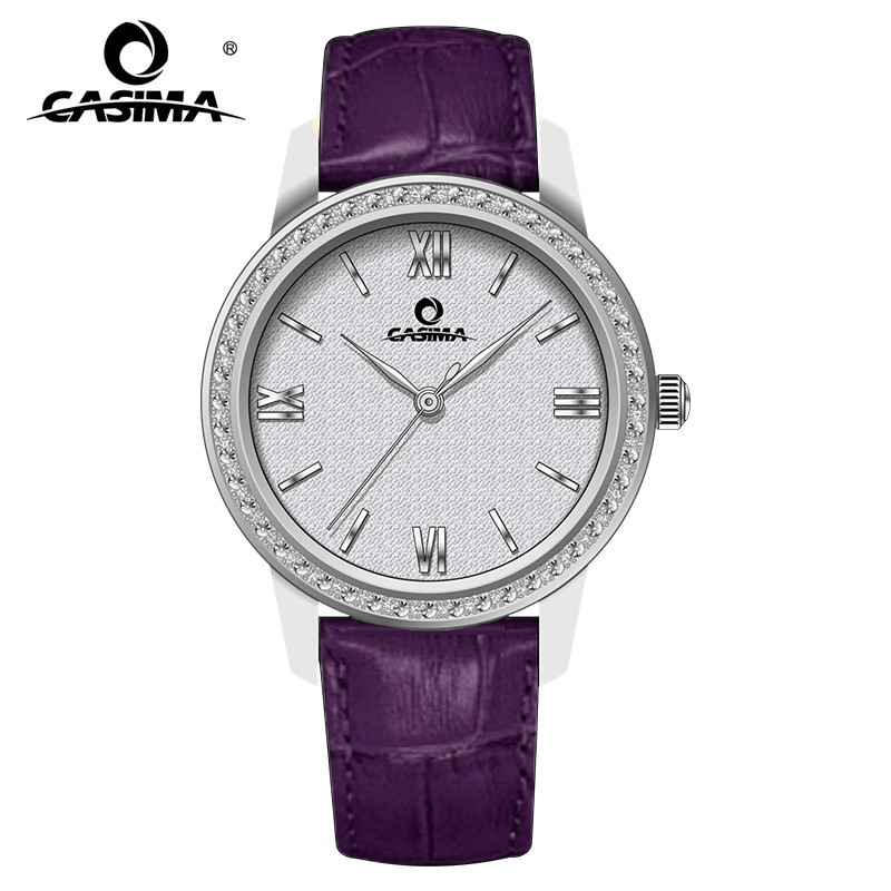 Relogio Feminino CASIMA Women Watches Casual Crystal Leather Quartz Wrist Watch Ladies Waterproof Clock Woman Reloj Mujer 2018 relogio feminino casima women watches fashion waterproof leather diamond ladies quartz wrist watch clock saat 2018 reloj mujer