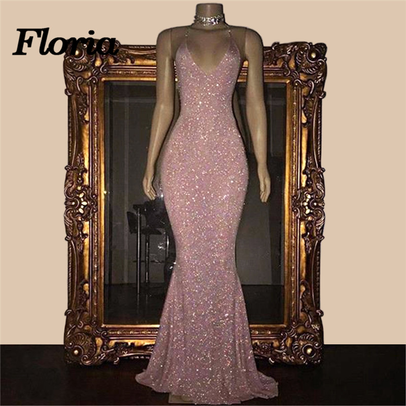 African Sexy V Neck   Evening     Dresses   Arabic Dubai Muslim Sleeveless Long Formal Prom   Dress   Strapless Party Gowns Robe de soiree