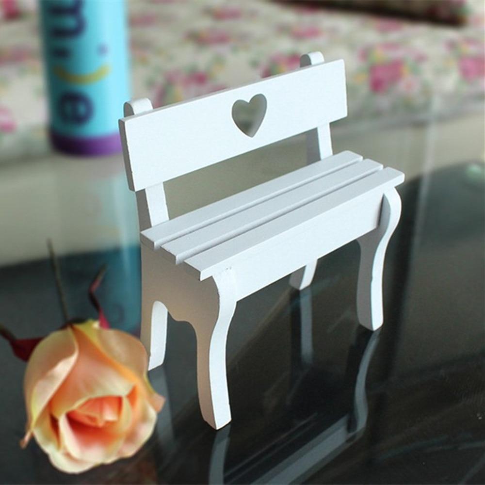 Log rustic all-match fashion small chair love cutout chair props decoration