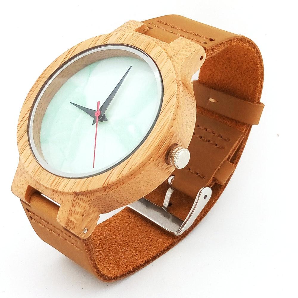 Բամբուկե փայտյա ժամացույցներ - Կանացի ժամացույցներ - Լուսանկար 2