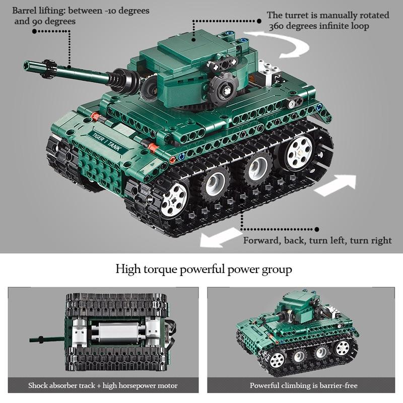 cada 313 pcs rc tigre militar 1 01