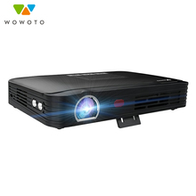 WOWOTO Projector 4K Resolution Fully autom Wi-Fi Bluetooth 4000Lumens LED Portable HD Projector Automatic focus Home theater цена и фото
