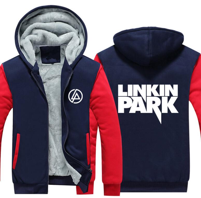 17 USA SIZE Men hoodies Linkin Park Adult Thicken Hoodie Zipper Sweatshirts Coat Jacket 3