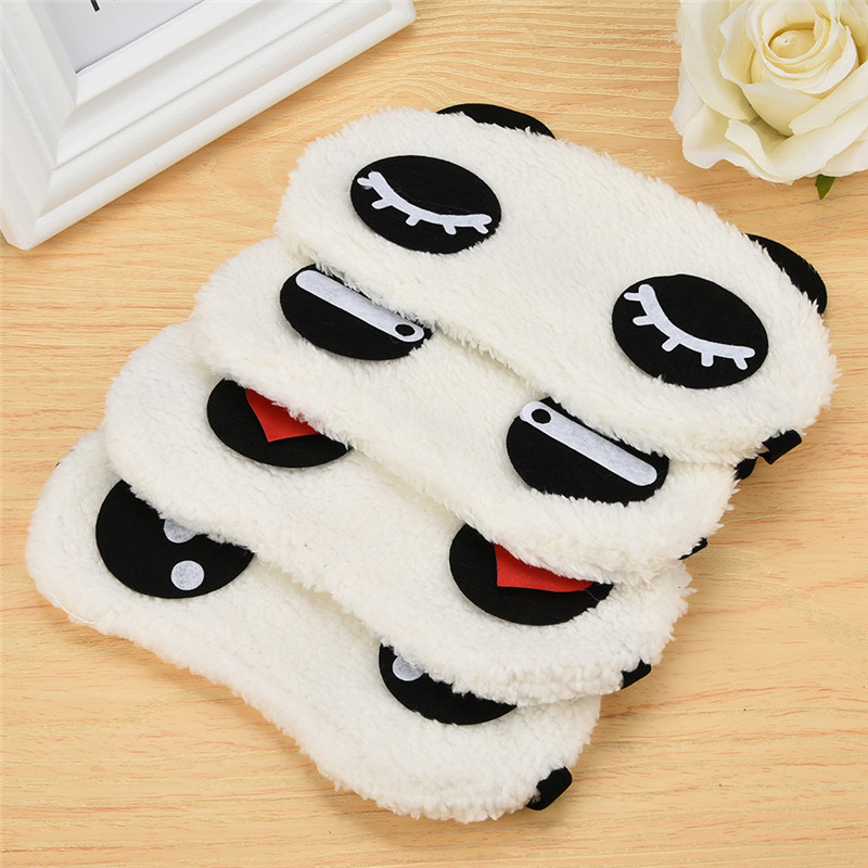 New Cute Face White Panda Eye mask Eyeshade Shading Sleep Cotton Goggles Eye mask sleep mask Eye Cover health Care все цены