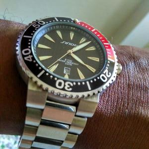 Image 5 - SINOBI גברים שעון יד למעלה יוקרה מותג 3Bar עמיד למים פלדת רצועת השעון זכר רשמי ספורט ז נבה קוורץ שעון 007 Saat
